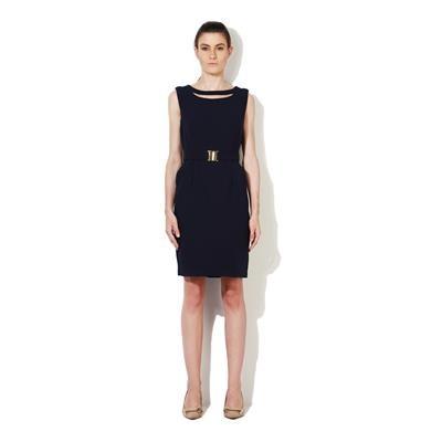 Van Heusen Navy Terylene Casual Dress