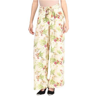Vero Moda Women Beige Floral Print Palazoo