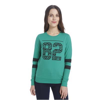 Vero Moda Women Green Casual Sweatshirts