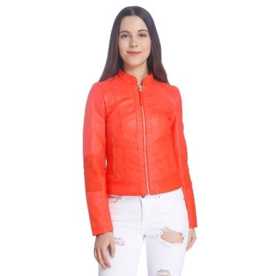Vero Moda Women Red Casual Solid Jacket