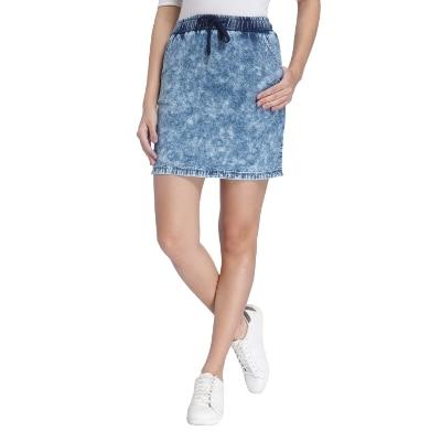 Vero Moda Women Blue Solid Skirt