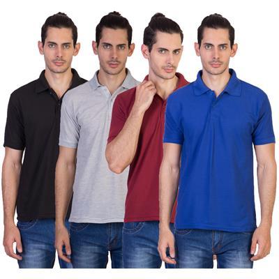 Vestiario Combo Of 4 Polo Neck T-Shirts