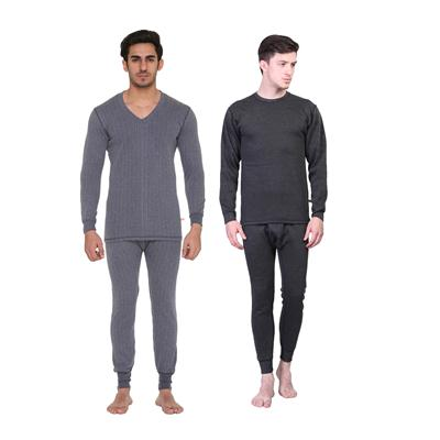 Vimal Blended Multicolor Thermal Top-pyjama Set For Men