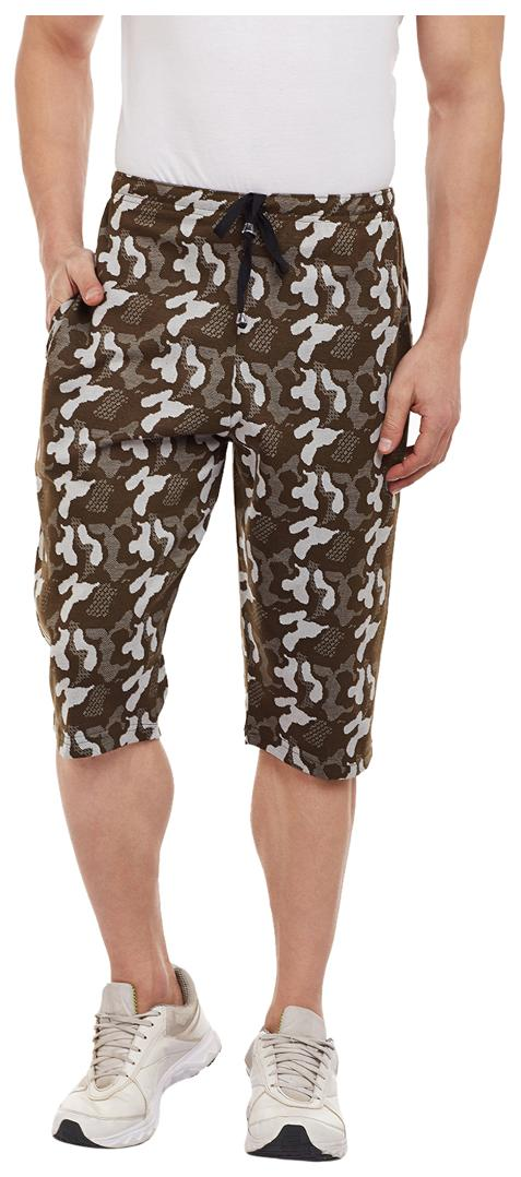 Vimal Camouflage/Military/Army 3/4th/Capris For Men
