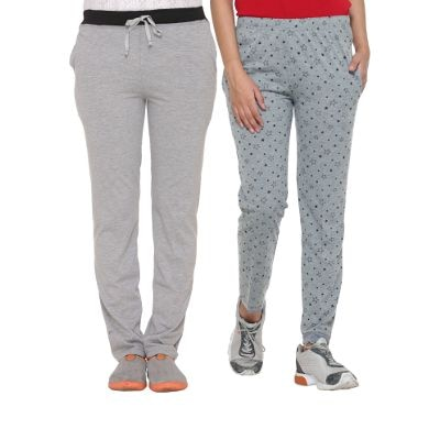 Vimal Multicolor Cotton Blended Trackpants For Women
