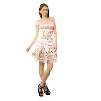 Viona Corset Pink Polyester Dress