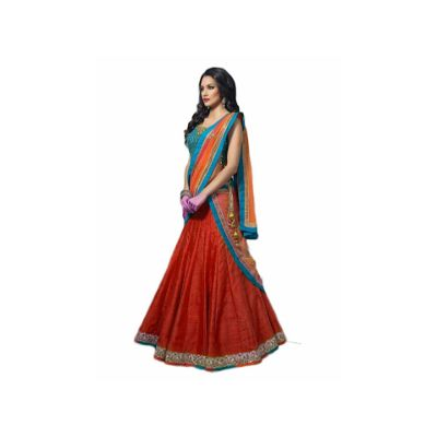 92d502b7ca Vipul Bollywood Designer Blue and RED Banglori Silk Lehenga Choli ( best  birthday wedding anniversary gift for mother sister wife women girl offers  on all ...