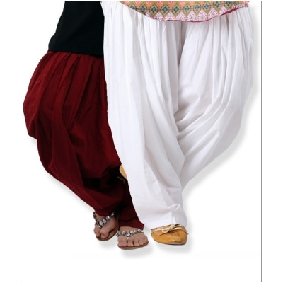 White maroon salwar