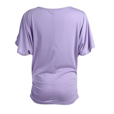 Women Half Sleeves Round Neck Solid Color Slim Fit T-shirt Blouse Tops