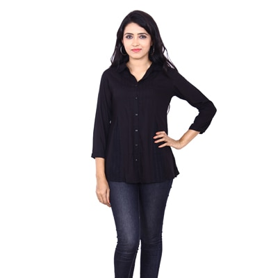 Wrangler Black Viscose Shirt