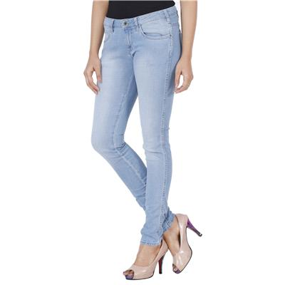 Wrangler Blue Low Rise Skinny Fit Jeans