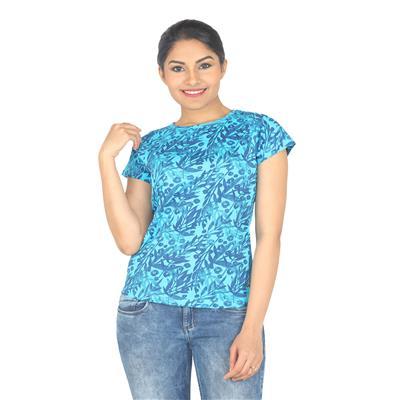 Wrangler Blue Cotton Tshirt