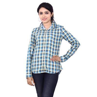 Wrangler Blue Cotton Shirt