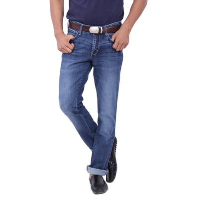 Wrangler Blue Low Rise Slim Fit Jeans (Skanders)