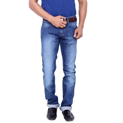 Wrangler Blue Mid Rise Slim Fit Jeans (Millard)