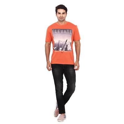 Wrangler Orange Regular Fit TShirt