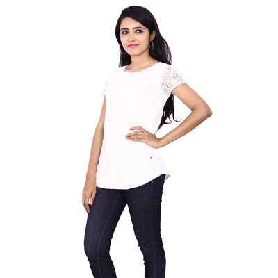 Wrangler White Cotton Shirt