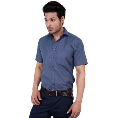 Zeal Blue Blended Formal Shirt