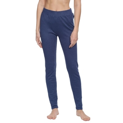 Zivame Everyday Thermal Legging- Marl Blue