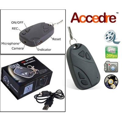 Keychain Spy Video And Audio Recording Camera