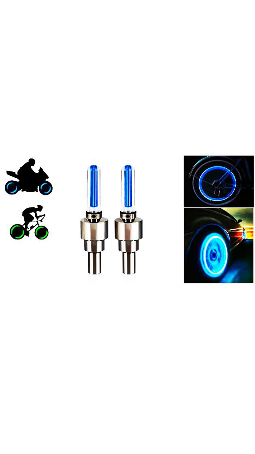 AutoSun Set of 2 Blue Tyre Led With Motion Sensor