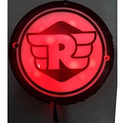 casemantra Bullet Motorcycle RED (RE) Logo Light for Number Plate - Royal Enfield Bullet Electra Twinspark
