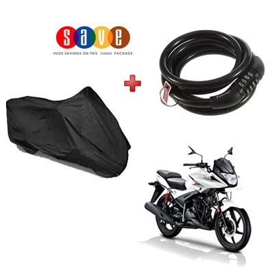 Combo Of Bike Body Cover and no. Lock for all...