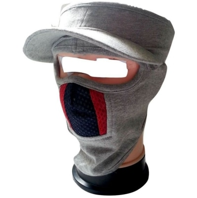 D3 Cap Style Ninja Mask White Color With Red &...