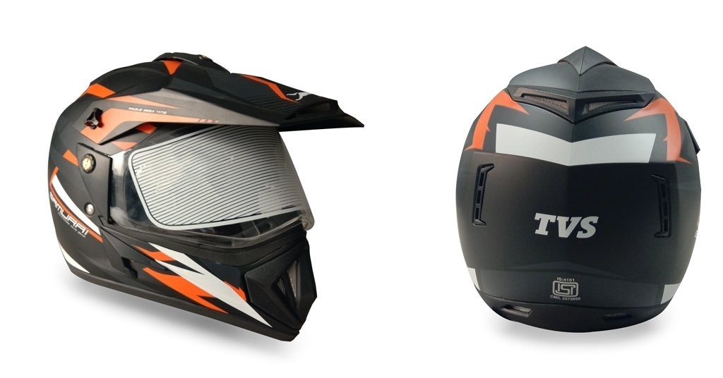 TVS Accessories Full Face Helmet (Grey, L)