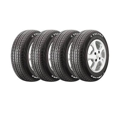 JK Tyres VECTRA 4 Wheeler Tyre (185/70 R14 88T, Tube Less) (Set Of 4)