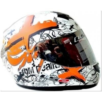 Ls2 Helmet Ff 352 Reality Orange With Mercury Visor(Size:L)