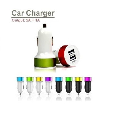 Dual USB Car Charger (Assorted)