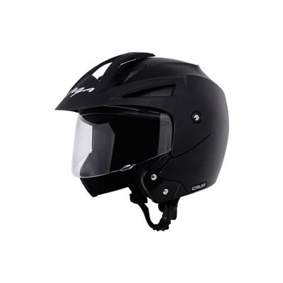 Vega Crux Open Face Black Helmet