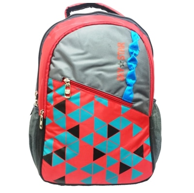 1154 Grey red College Bag