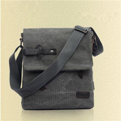 2017 Men's Fashionable Canvas Business Bag Characteristic Hasp Flip-type Lock Catch Crossbody Bag Practical Shoulder Bags?Grey?
