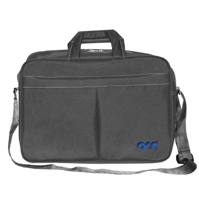 """Acm Executive Office Padded Laptop Bag for Msi Gp62 6qf Leopard Pro 15.6"""" Laptop Grey Image"""
