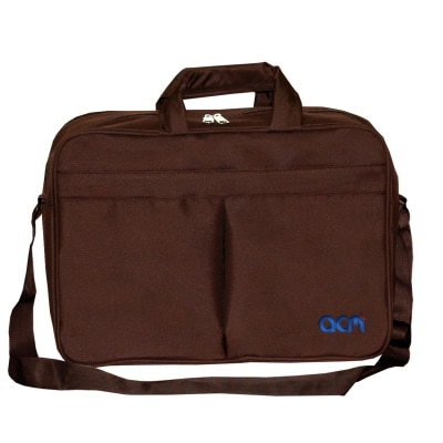 """Acm Executive Office Padded Laptop Bag for Msi Gp62 6qf Leopard Pro 15.6"""" Laptop Brown Image"""