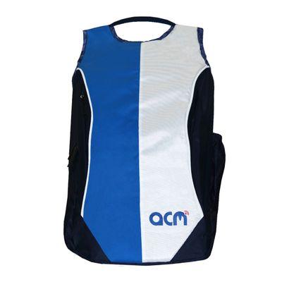 "Acm Premium Laptop Backpack Padded Bag for Lenovo Yoga 300 80m1003win 11.6"" Laptop Blue Image"