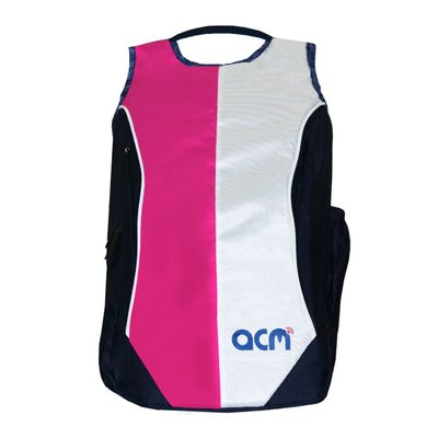 """Acm Premium Laptop Backpack Padded Bag for Iball Compbook- Exemplaire 14"""" Laptop Pink"""