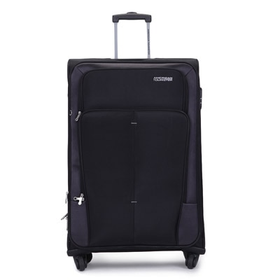American Tourister Black Polyester Strolley (Medium Luggage)
