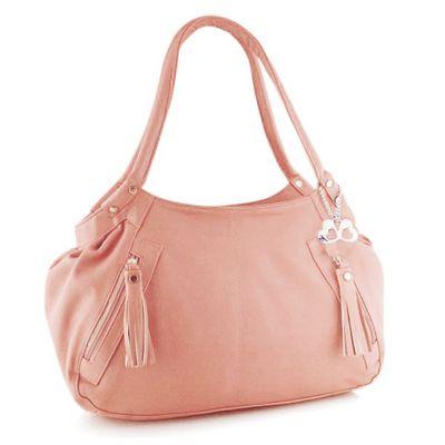 Anglopanglo Women Peach Color Handbag