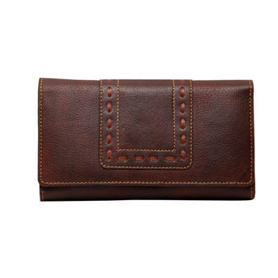 Borse Brown Leather Wallet