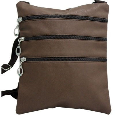 Shoppingfeast Brown 3 Layer Sling Bag