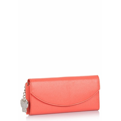 Butterflies Orange Wallet