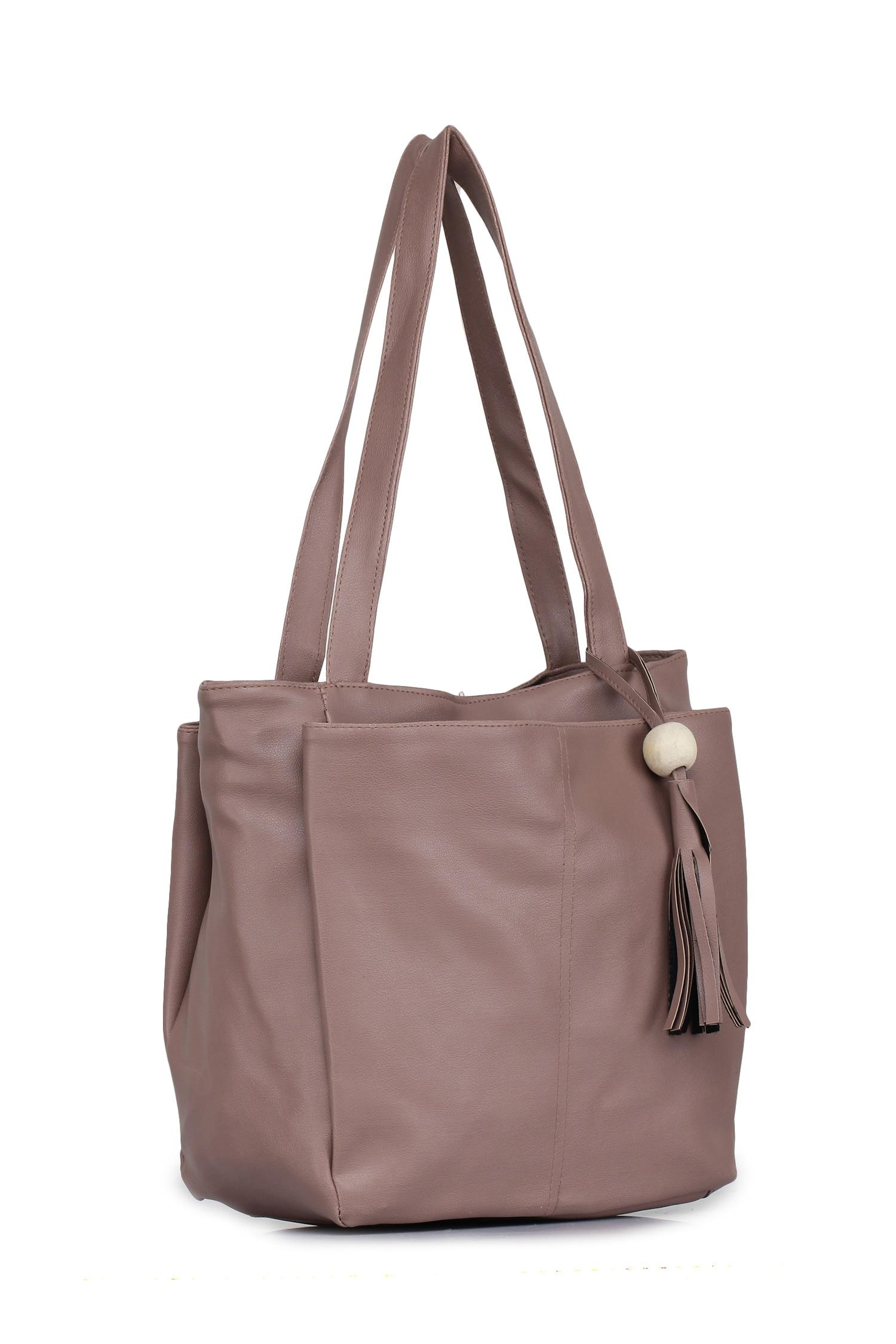 Craveforit PU Handbag For Women - Beige