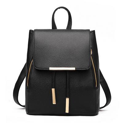Fashion Genuine Leather Backpack Women Bags Preppy Style Backpack Girls School Bags Zipper Kanken Leather Backpack