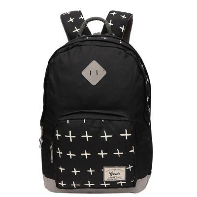 Gear Black Backpack (BKPFRSHRS0104)