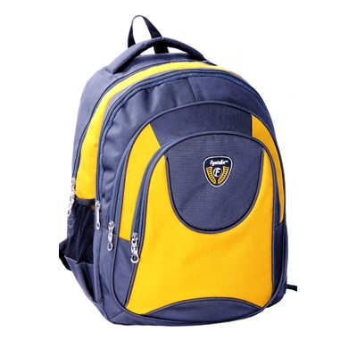 Fyntake Blue And Yellow Backpack