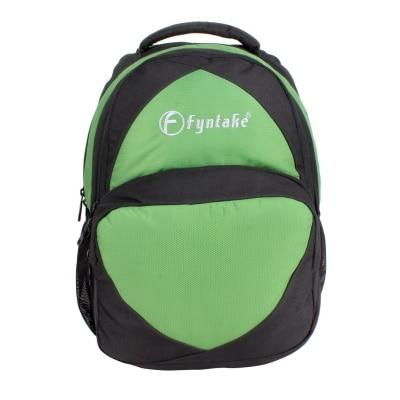Fyntake ERAM1267 Backpack AB-BAG Black & Parrot Green