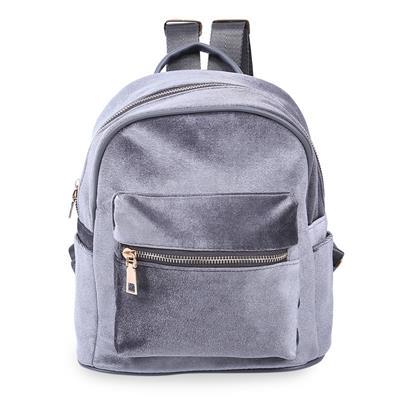 Girl Preppy Style Rivet Pure Color Pleuche Portable Bag Handbag Tote Backpack # International Bazaar